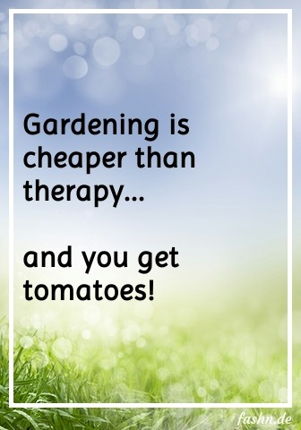 Gardening is cheaper than therapy... and you get tomatoes!