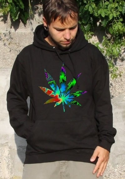 trippy-weed-hoodie-psychedelic-clothing-pullover-goa-klamotten-kleidung-kiffen-gras-cannabis-festival-drugs-dope-leaf-blatt-monotobi-psy von MONOTOBI  ॐ Psy-Hippie-Goa-Shop