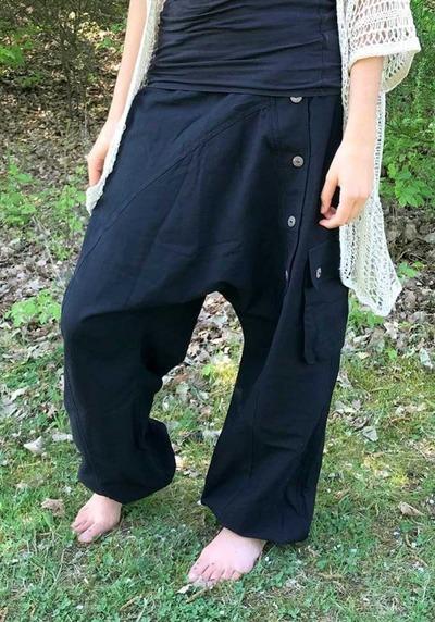 ॐ Hippie Frauen Goa Von Günstig Monotobi Psy Haremshosen XiuOPkZT