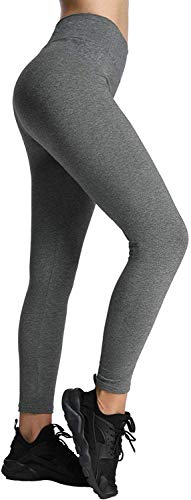 4HOW Jogging Damen Stretch Leggings Grau Strumpfhosen Jogginghose,L von 4HOW