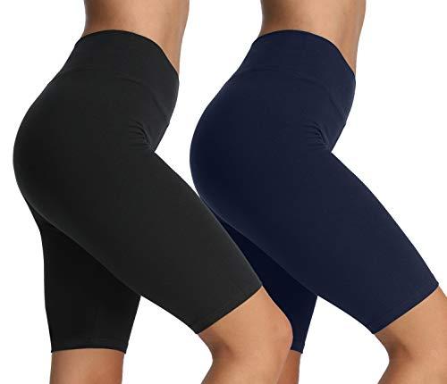 Runstarshow Damen Sportleggings Radlerhose Hoch Taille Kurze Elastische Sporthose Laufshorts Blickdicht Yogahose Push Up Fitness Gym Shorts