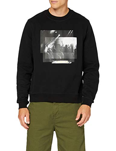 7 For All Mankind Mens Graphic Sweater, Black, L von 7 For All Mankind