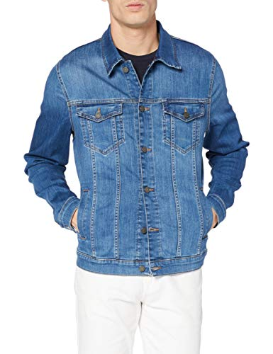 7 For All Mankind Mens Perfect Jacket, Mid Blue, L von 7 For All Mankind