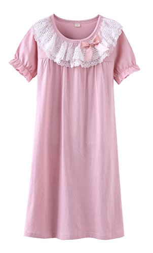 ABClothing Baby Girl Lace Cotton Nachthemd 13 Jahre Pink von ABClothing