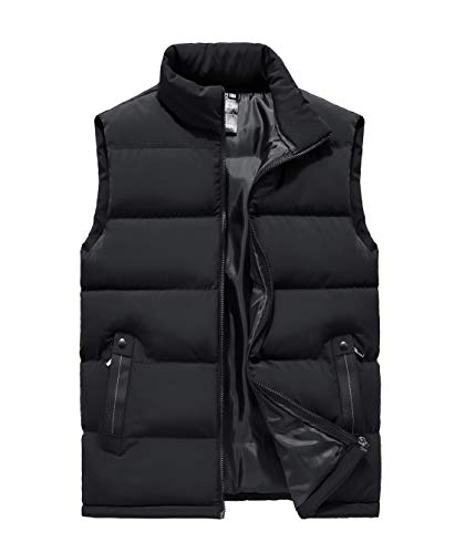 Damen Steppweste warme Winterweste mit RV-Seitentaschen und Stehkragen Übergang