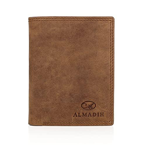 ALMADIH 14 Kartenfächer Leder Portemonnaie Herren Geldbörse Geldbeutel P0Q