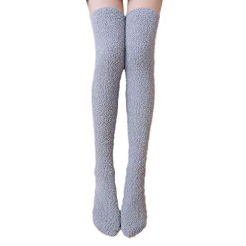 Damen Paillette Overknee Strümpfe Kniestrümpfe Lang Socken Winter Beinwärmer