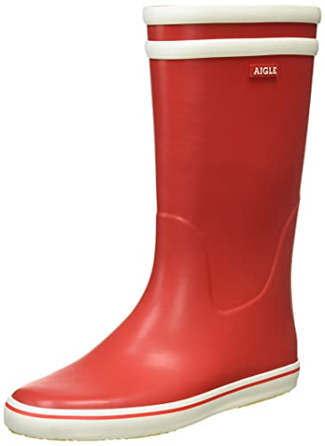 Gummistiefel 40 Malouine UK Aigle 5 Blanc 6 Rouge BT EU Damen Rot q4wtS