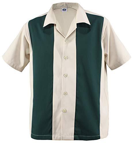 796d7e977e224d Herren Bowling Camp Cabin Cabana Shirt Worker Hemd Rockabilly Two Tone  Gabardine Lounge Fifties Vintage Retro