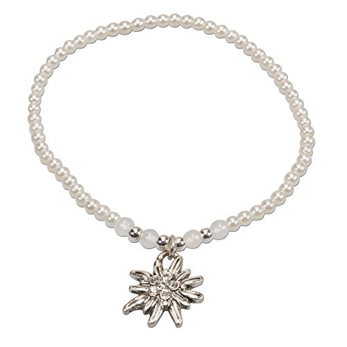 Stern Perlen Silber Eiskristall Metall Weiß Weihnachten: Schmuck Von Alpenflüstern Für Frauen Günstig Online Kaufen