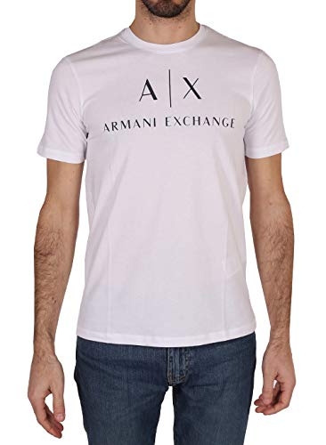 Armani Exchange Herren T-Shirt 8NZTCJ, Weiß (White 1100), X-Large von Armani Exchange