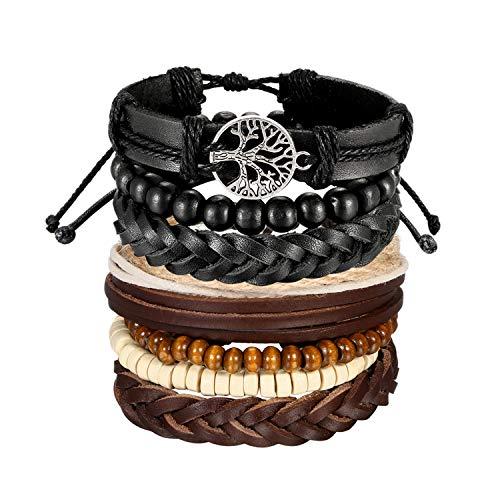 Neu Unisex Lederarmband Wickelarmband Surfarmband Bracelet Armbänder  Hot Sale