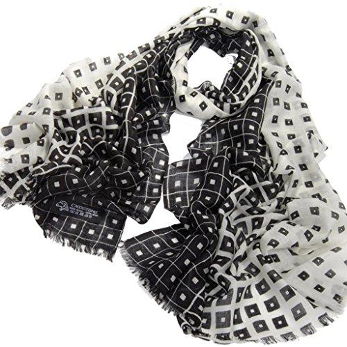 Avenella Schicker Leo Muster zarter Wollschal aus feiner Wolle ca. 185x72 cm sehr weicher gewebter Schal Tuch Stola aus 100/% Wolle Damenschal Leomuster
