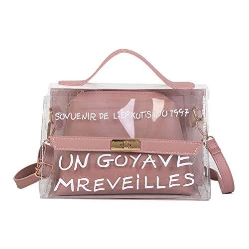47a9bb372eea87 BESTOYARD Umhängetasche Transparente Innentasche Umhängetasche für Damen  Mädchen Damen (Pink) von BESTOYARD