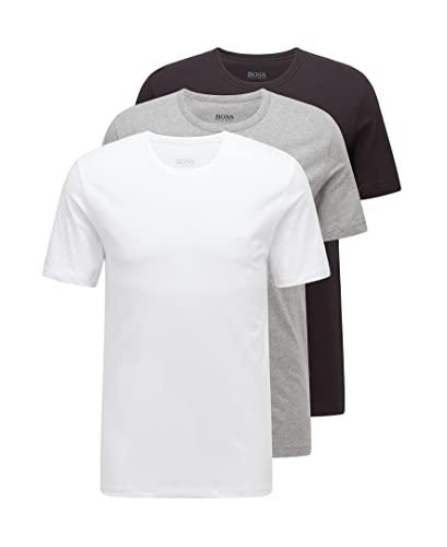 Slim-Fit Hemd aus Canvas mit feinem geometrischem Print. gefunden bei HUGO  BOSS. BOSS Herren T-Shirts RN 3P CO, 3er, Mehrfarbig (Assorted Pre- cae2e423a7