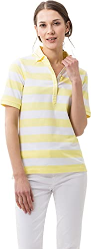 BRAX Damen Style Cleo Finest Pique Stretch Poloshirt, Yellow, 38 von BRAX