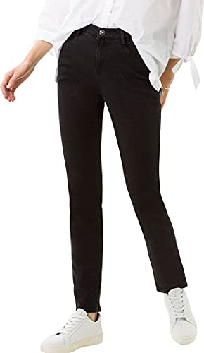 BRAX Damen Style Mary Blue Planet Five Pocket Slim Fit Sportiv Jeans, Schwarz (Clean Black 02), 46K von BRAX