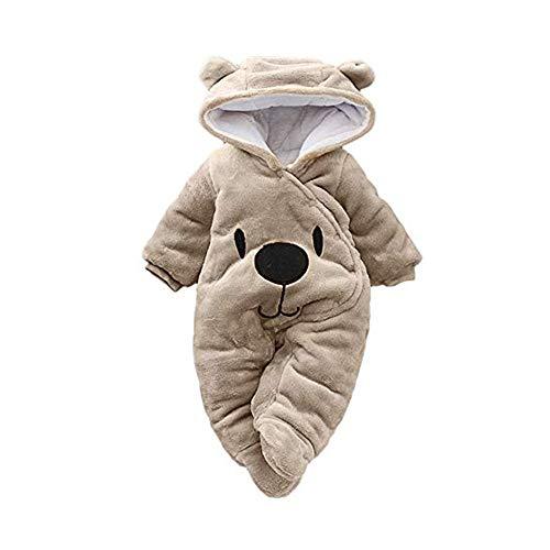 Baby Schneeanzug Winter Overall Strampler mit Kapuze Footed Handschuhe Warm Spielanzug Jungen M/ädchen Jumpsuit Kleidungsset//3-6M