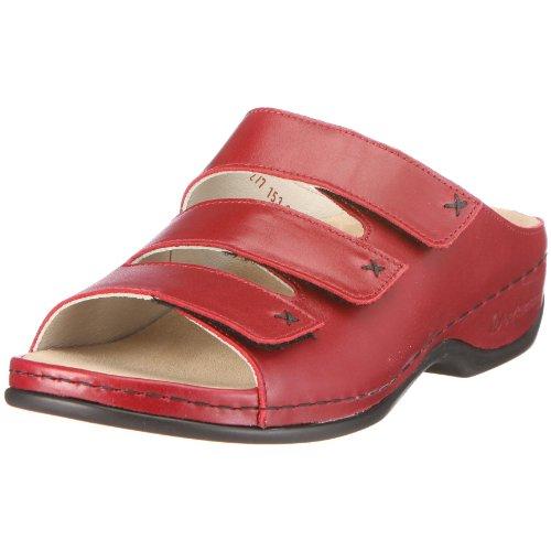 Berkemann 01080 Melbourne Fedora washable, Damen Clogs & Pantoletten, Veloursleder, Rot (rot 250), EU 37, (UK 4)