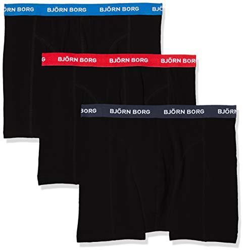 Björn Borg Herren Noos Solids Shorts  Boxer Short dunkelblau 3er Pack NEU