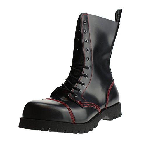 Braces schwarz 10 Gr UK11 45 roter Boots Naht e amp; Loch mit xSIAnwq5E