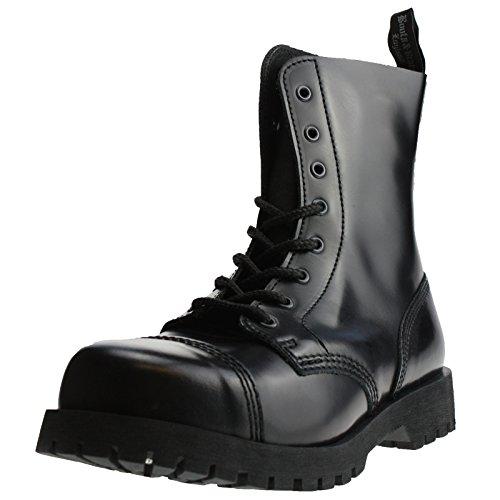 8 40 amp; Schwarz Loch Braces Boots EU Stiefel Rangers Schwarz qBdHttx