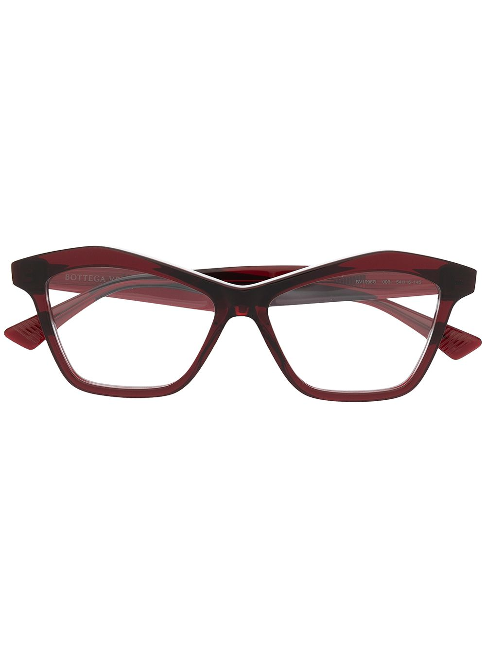 Bottega Veneta Eyewear Eckige Cat-Eye-Brille - Rot von Bottega Veneta Eyewear