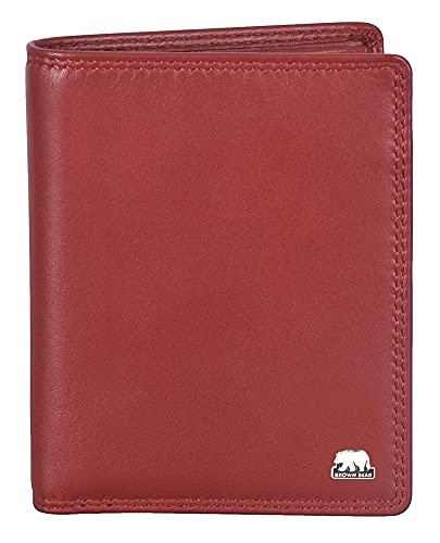 03e737bfe4c87 Brown Bear Geldbörse Damen Leder Rot RFID Schutz ohne Münzenfach  Ausweisetui Kartenetui von Brown Bear