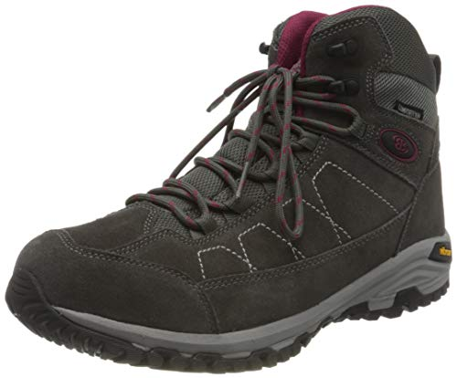 Brütting Mount Adams High Damen Outdoor- & Trekkingschuh, Grau/ Bordeaux, 37 EU von Brütting