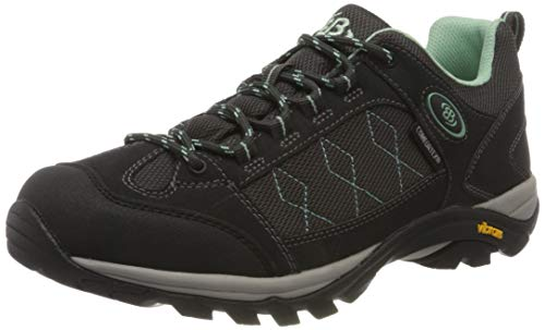Brütting Mount Cook Low Damen Outdoor- & Trekkingschuh, Anthrazit/ Mintgrün, 37 EU von Brütting