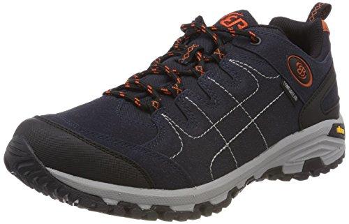 Bruetting Unisex-Erwachsene Mount Shasta Low Trekking-& Wanderhalbschuhe, Blau (Marine/Orange Marine/Orange), 45 EU