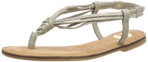 Buffalo Damen 172075 Leather Zehentrenner, Grau (Taupe 89), 40 EU von Buffalo