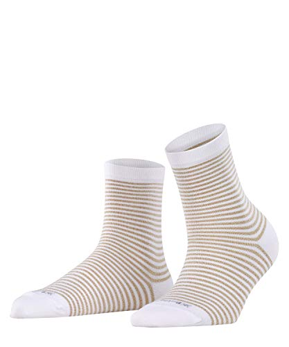 Burlington Damen Sneakersocken Ladywell Ringlet, Weiß (White 2000), 36/41 von Burlington