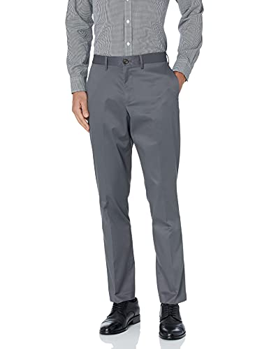 Buttoned Down Athletic Fit Non-iron Dress Chino Pant Unterhose, dunkelgrau, 36W / 32L von Buttoned Down
