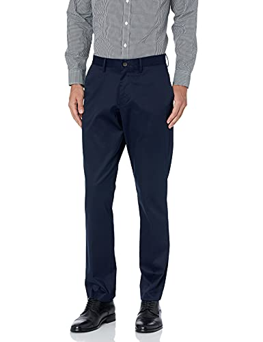 Buttoned Down Athletic Fit Non-iron Dress Chino Pant Unterhose, navy, 34W / 32L von Buttoned Down