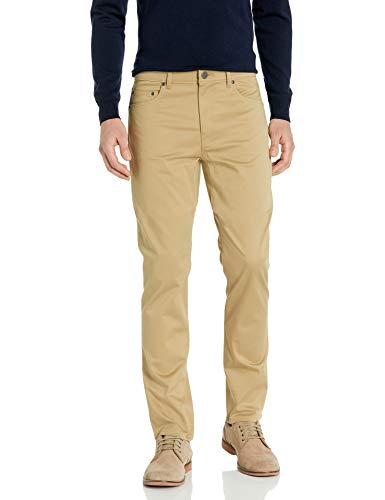 Buttoned Down Straight-fit 5-Pocket Easy Care Stretch Twill Chino Casual-Pants, weizenfarben, 31W x 32L von Buttoned Down