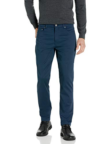 Buttoned Down Straight-fit 5-Pocket Easy Care Stretch Twill Chino Pants, Navy, 40W x 32L von Buttoned Down