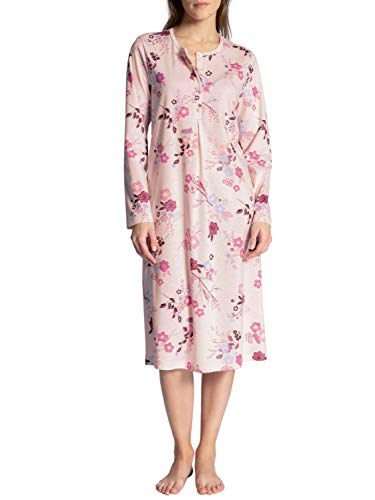 CALIDA Damen Cosy Cotton Nights Nachthemd, Barely Rose Print, 36-38 von CALIDA