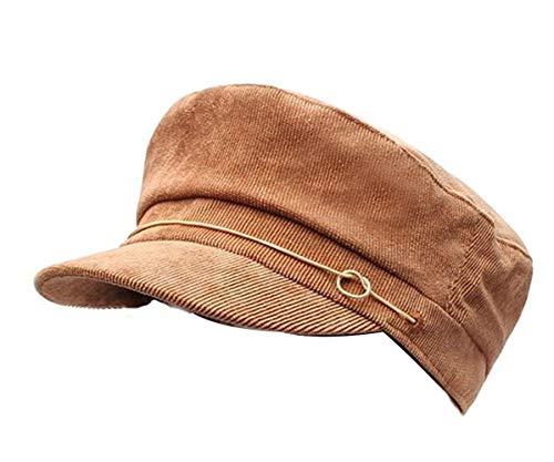 CHENNUO Army Military Cap Damen Vintage Kappe Schirmm/ütze Denim Barett Kapit/äns m/ütze