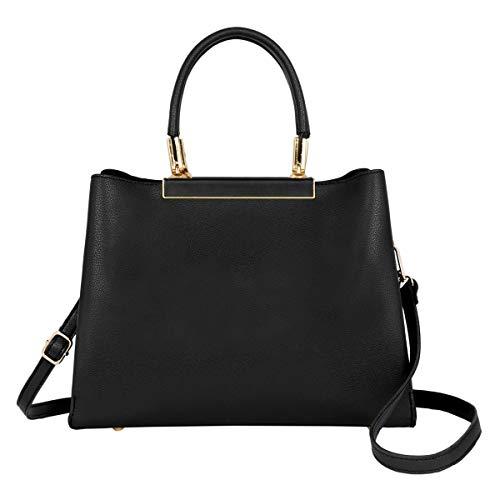 17c3a253eec8b CRAZYCHIC - Damen Handtasche - PU Leder Top Griff Schultertasche - Elegante  Henkteltasche Umhängetasche - Viele