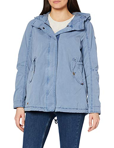 camel active Womenswear Damen Parka, Blau (Denim Blue 40), 44 von camel active