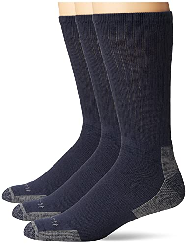 Carhartt Herren All Season Cotton Crew Work (3-Pair) Sock, Navy, L von Carhartt