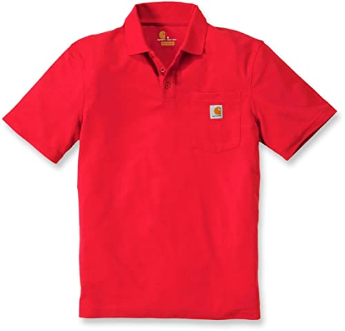 Carhartt Herren Contractor'S Work Pocket Polo Shirt, Red, XL von Carhartt