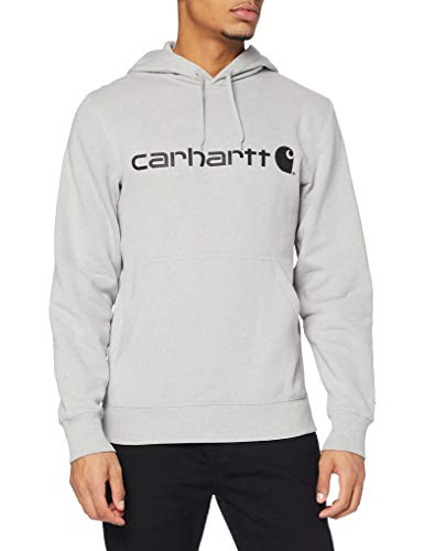 Carhartt Herren Force Delmont Graphic Hooded Sweatshirt, Asphalt Heather, XL von Carhartt
