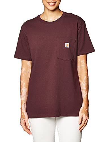 Carhartt Womens Workwear Pocket Short-Sleeve T-Shirts, Deep Wine, XL von Carhartt