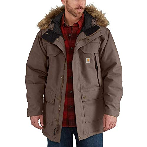 Carhartt Herren Quick Duck Sawtooth Parka COAT, Dark Canyon Brown, L von Carhartt