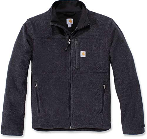 Carhartt Mens Dalton Full Zip Fleece Sweatshirt, Black Heather, XXL von Carhartt