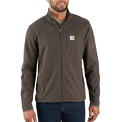 Carhartt Mens Dalton Full Zip Fleece Sweatshirt, Tarmac Heather, L von Carhartt