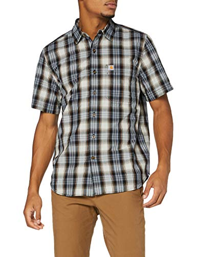 Carhartt Herren Short-Sleeve Essential Shirt, Steel Blue, L von Carhartt