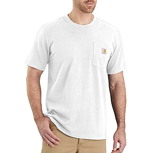 Carhartt Herren Workwear Pocket Short-Sleeve T-Shirt, White, L von Carhartt